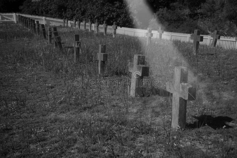 Un cimetière de cimetière photographie stock