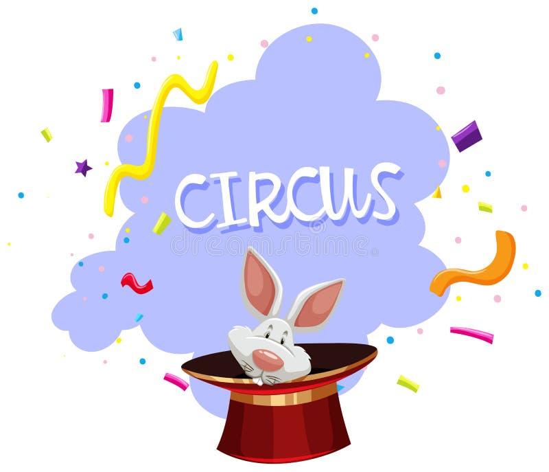 Un circo di trucco magico del coniglio illustrazione vettoriale