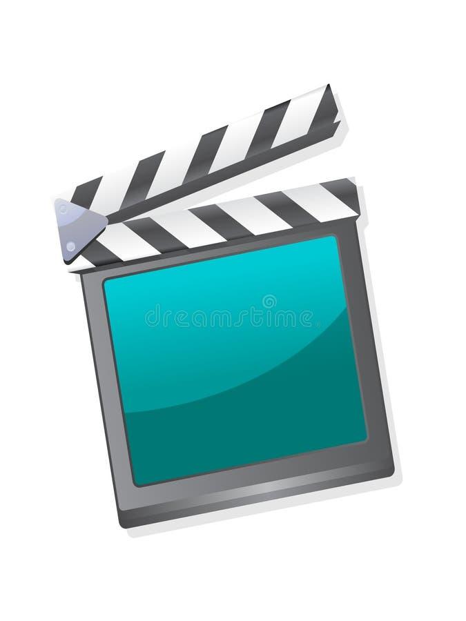 Un clapperboard de film illustration stock
