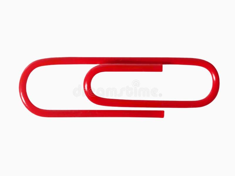 Un clip de papel rojo imagen de archivo libre de regalías