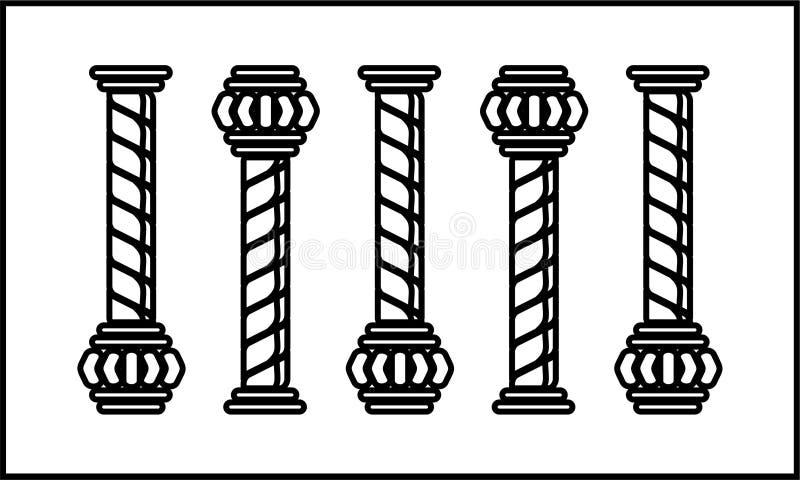 Un clipart di cinque colonne royalty illustrazione gratis
