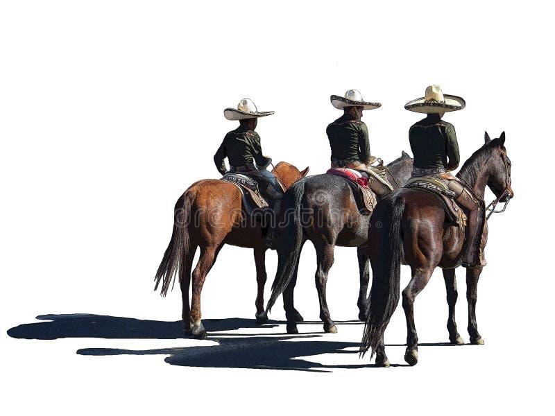 Un clipart iconico di tre amigos illustrazione di stock