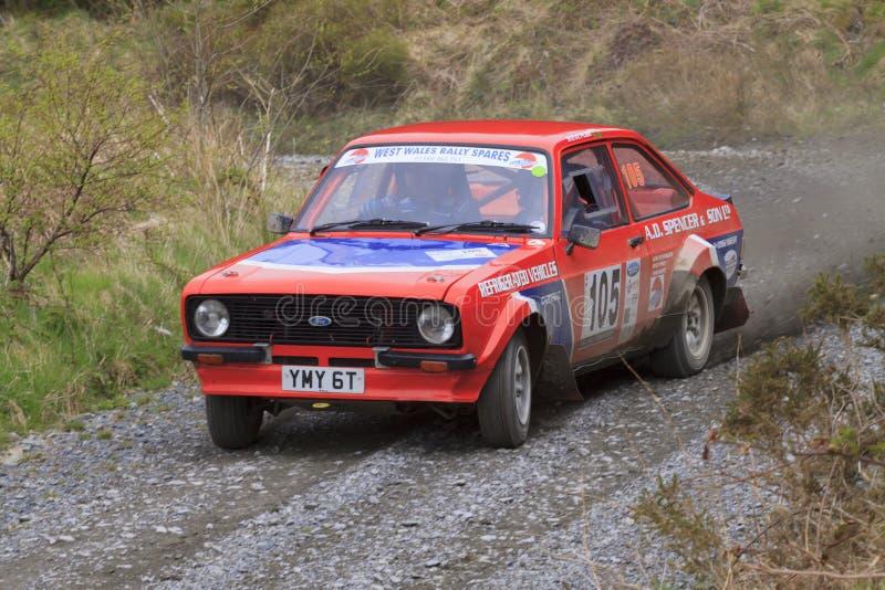 Un coche de la reunión de Mkii Ford Escort fotografía de archivo