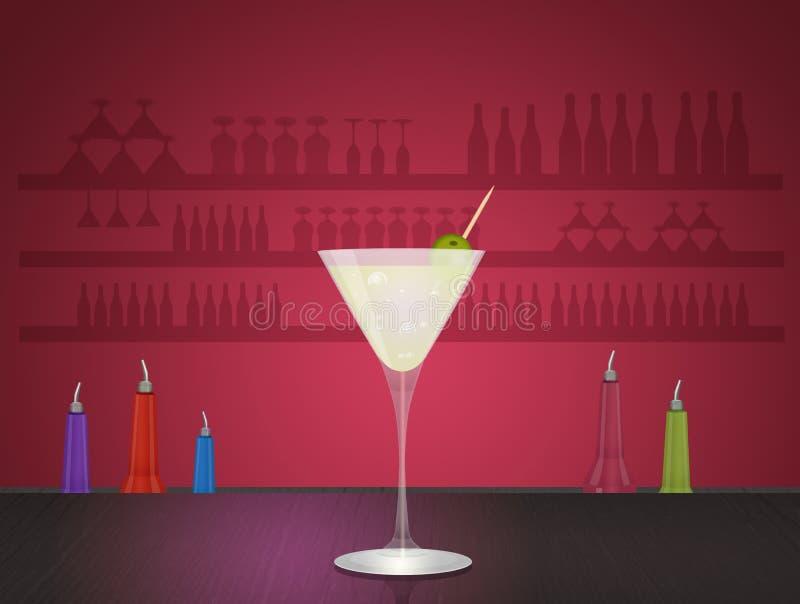 Un cocktail alcolico illustrazione vettoriale