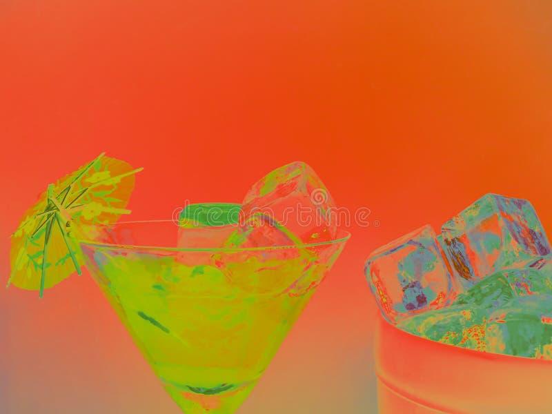 Un CocktailDrink un giorno di estati fotografia stock