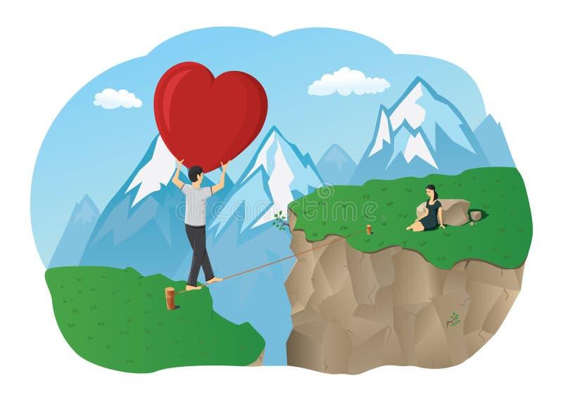 Un coeur énorme illustration stock