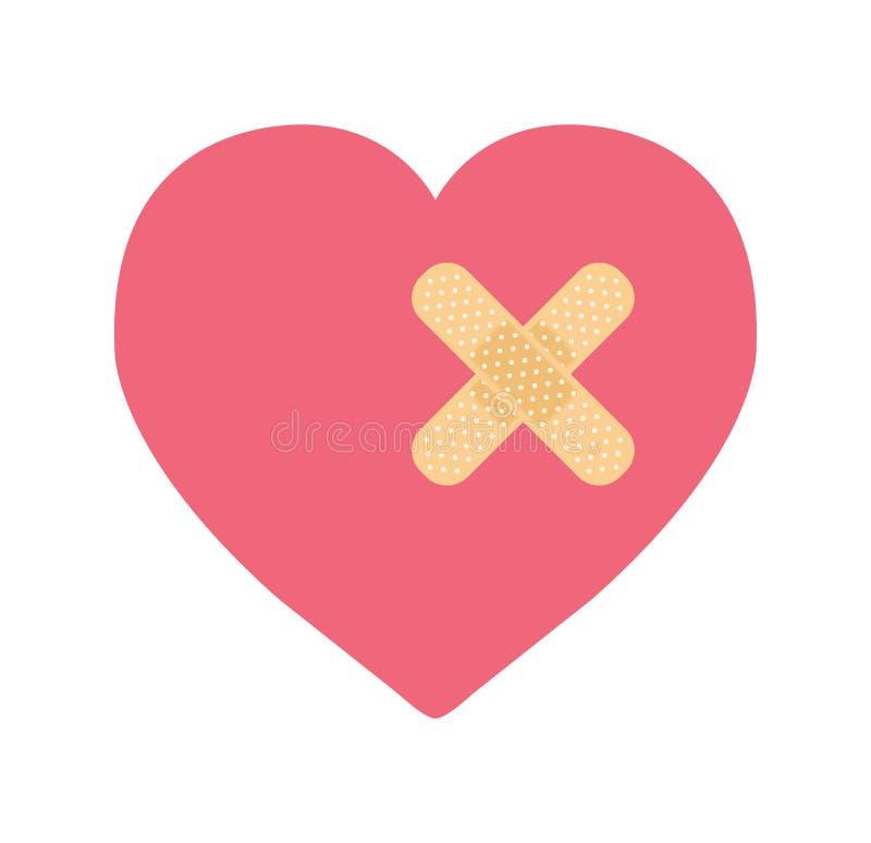 Un coeur avec le bandage illustration stock