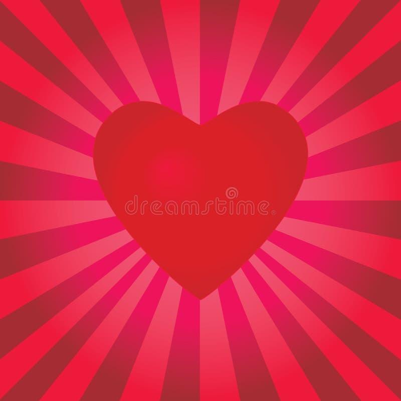 Un coeur de pulsation illustration libre de droits