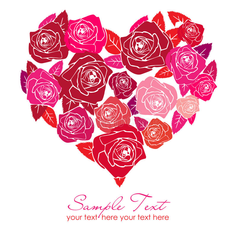 Un coeur de Rose illustration stock