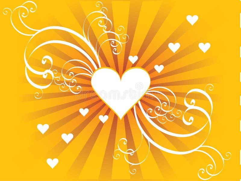Un coeur de vecteur avec des remous illustration de vecteur