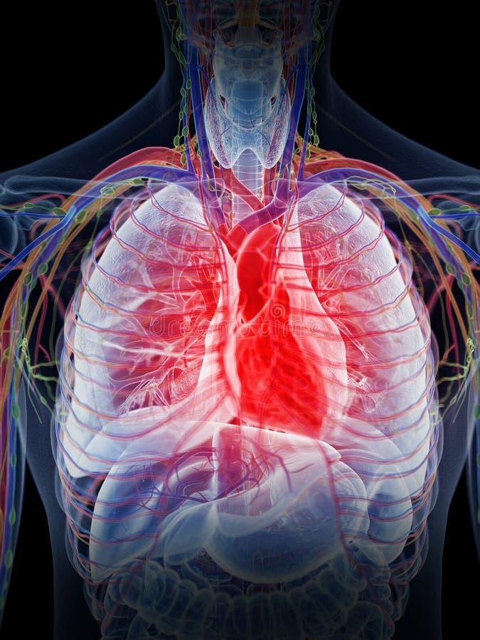 Un coeur enflammé illustration de vecteur