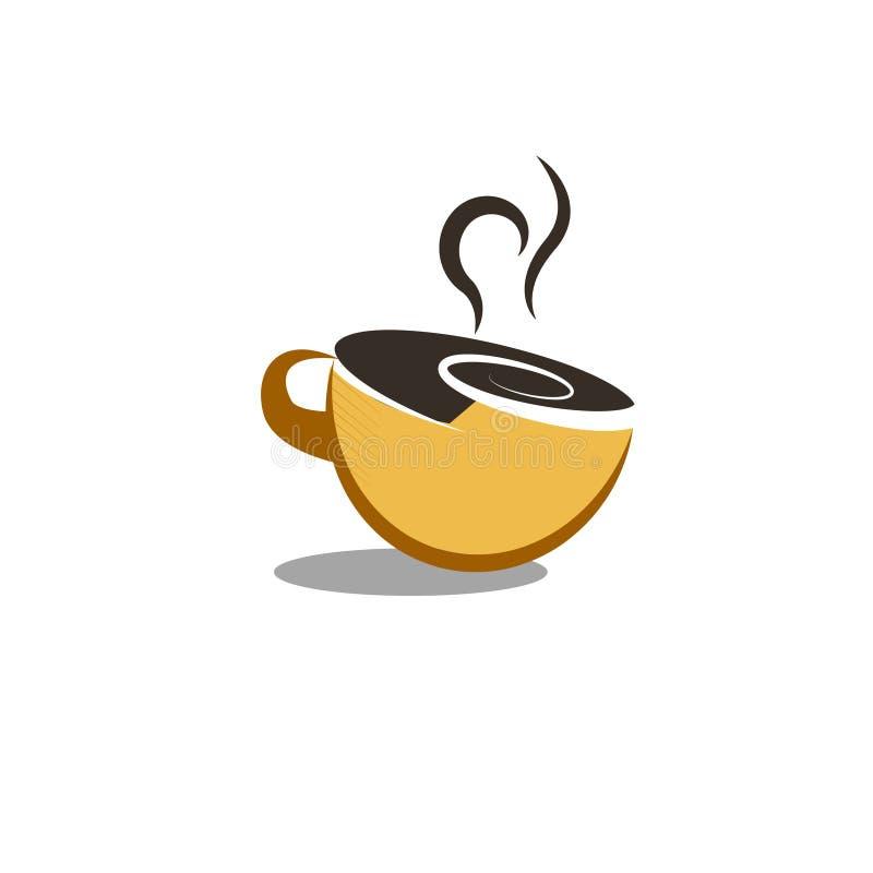 Un cofee chaud dans le vecteur de tasse illustration libre de droits