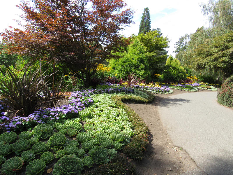 Un coin à la Reine Elizabeth Park, Vancouver, Canada photos stock