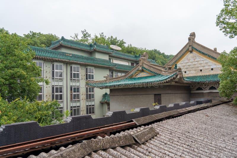 Un coin de la bibliothèque de la province de Hubei en Chine photos stock