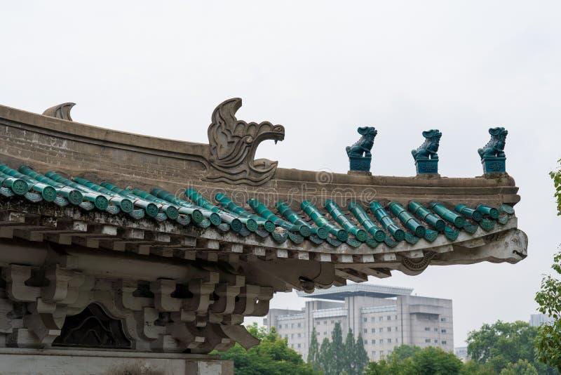 Un coin de la bibliothèque de la province de Hubei en Chine images libres de droits