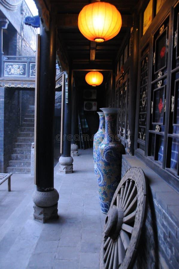 Un coin de la cour dans Pingyao photo stock