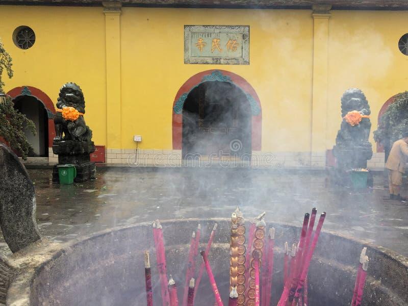 Un coin du temple d'hiver photos libres de droits