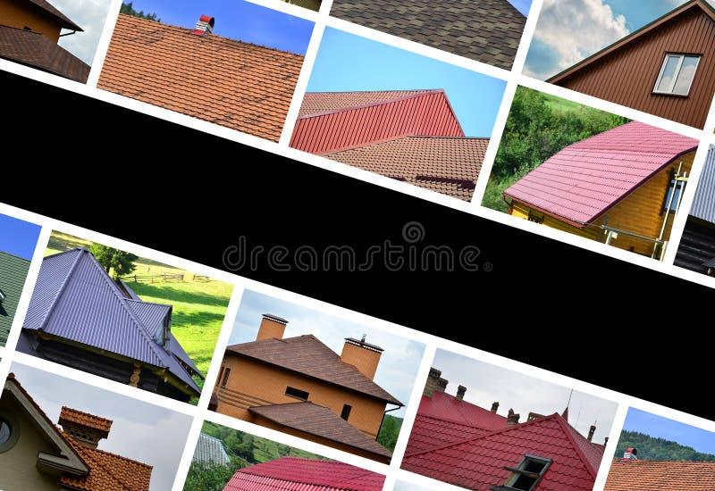 Un collage de beaucoup d'images avec des fragments de divers types de RO photos stock