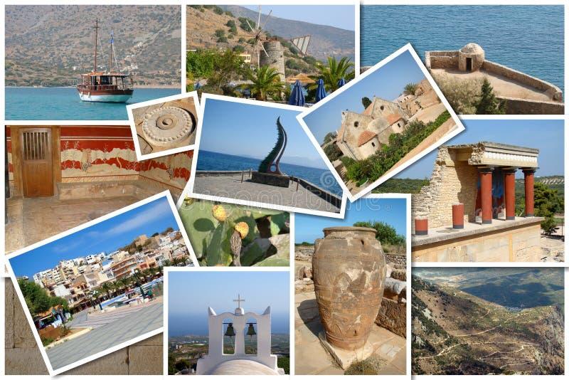 Un collage dell'isola di Creta, Grecia fotografia stock