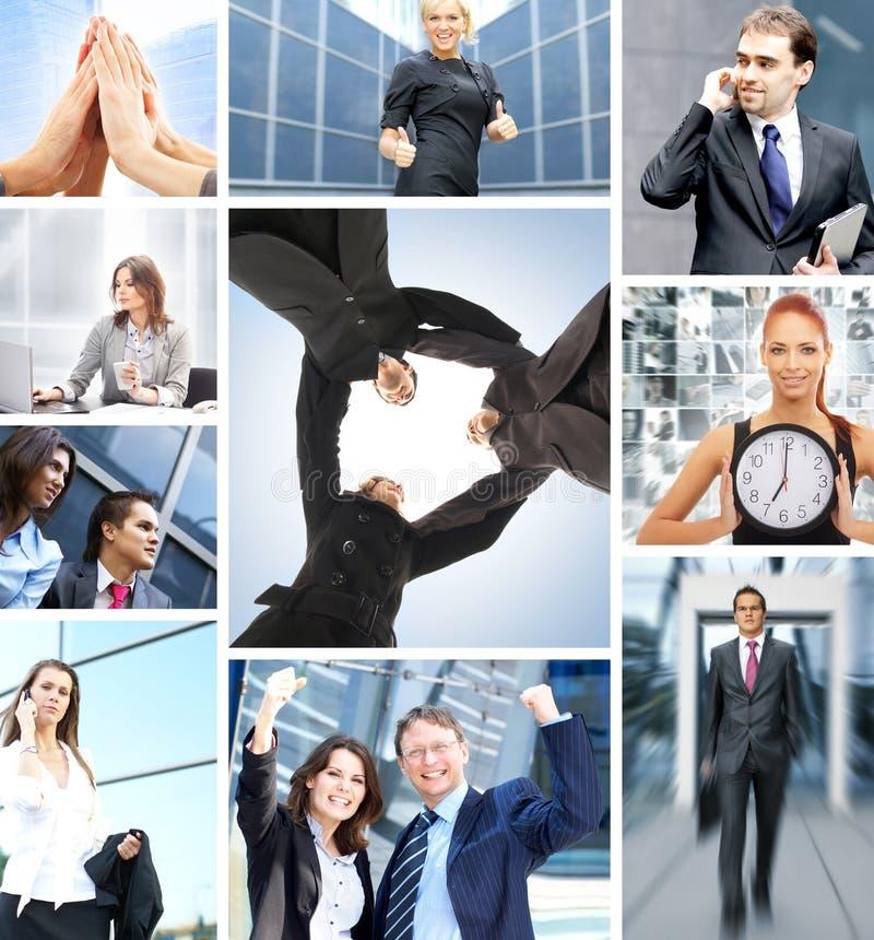 Un collage della gente di affari in vestiti convenzionali fotografia stock libera da diritti