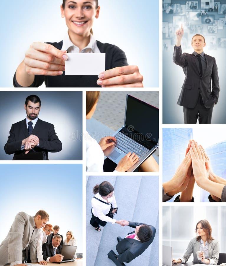 Un collage della gente di affari in vestiti convenzionali fotografia stock