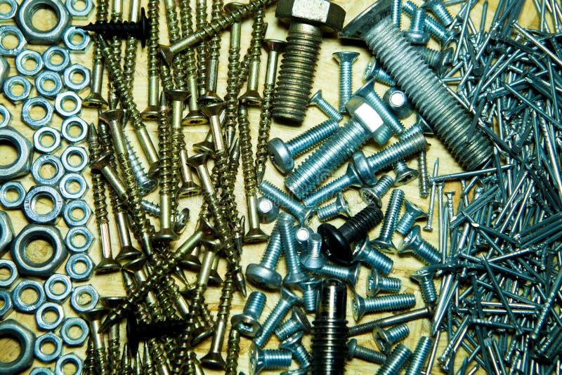 Un collage des outils pour la construction photographie stock libre de droits