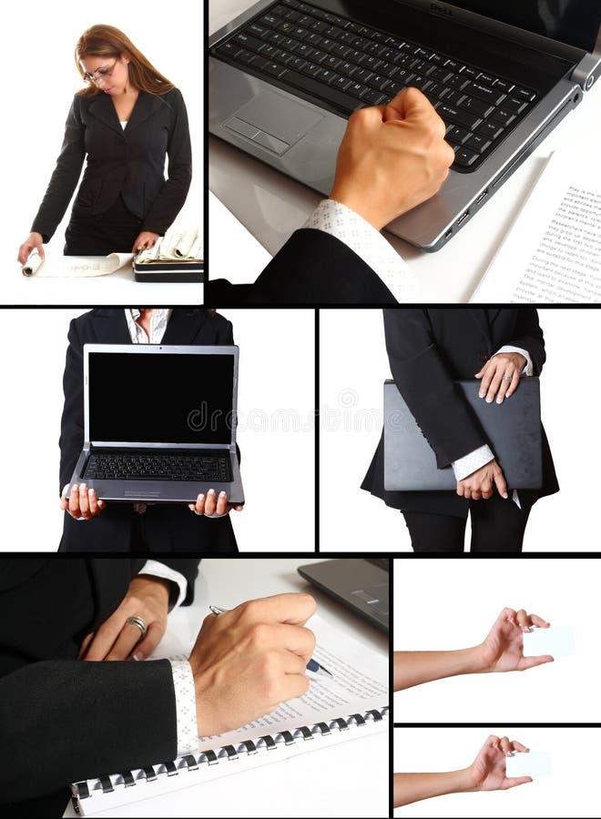 Un collage orienté d'affaires image libre de droits
