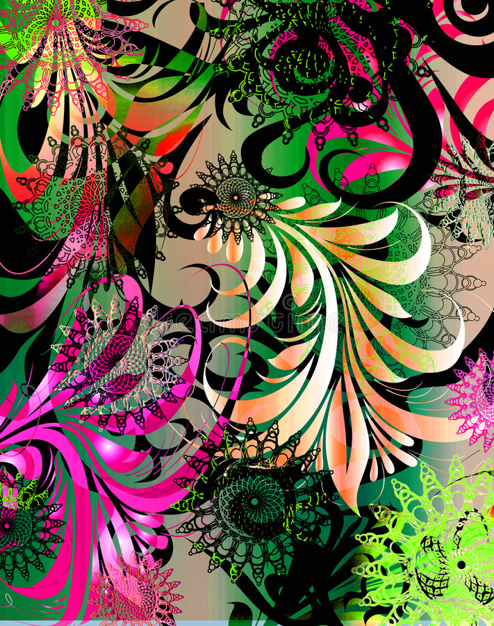Un color de rosa más plano del funk_hot libre illustration
