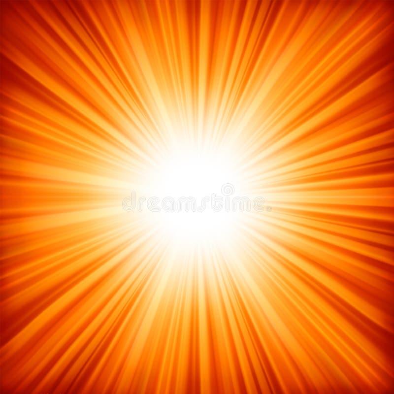 Un colore rosso - disegno arancione di colore con un burst. ENV 8 illustrazione vettoriale
