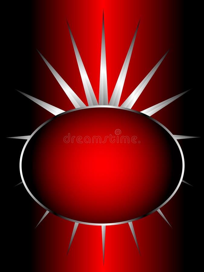 Un colore rosso e una priorità bassa di vettore dell'argento illustrazione di stock