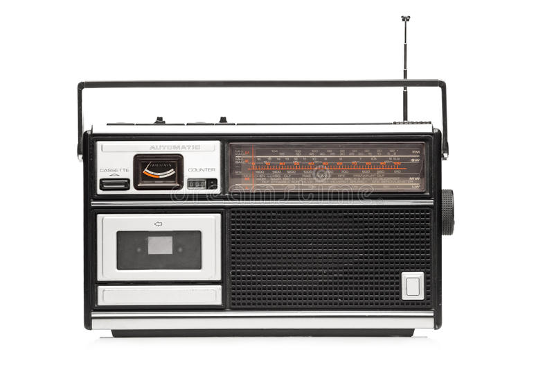Un colpo dello studio di retro radio designata immagine stock