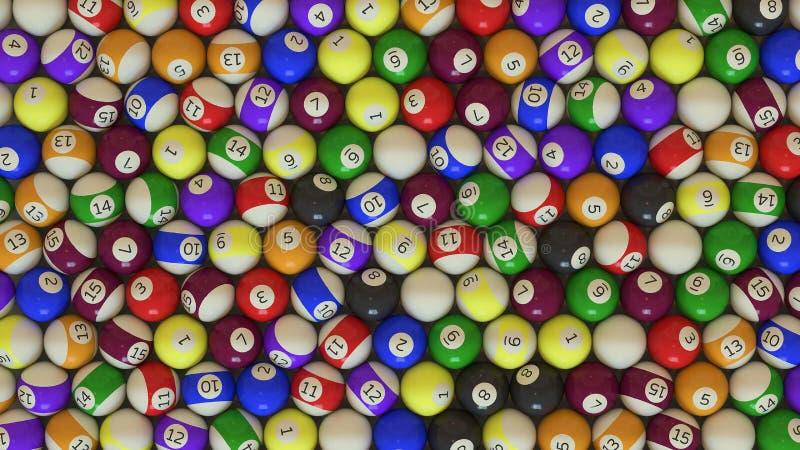 Un colpo sopraelevato di grande matrice delle palle di stagno illustrazione di stock