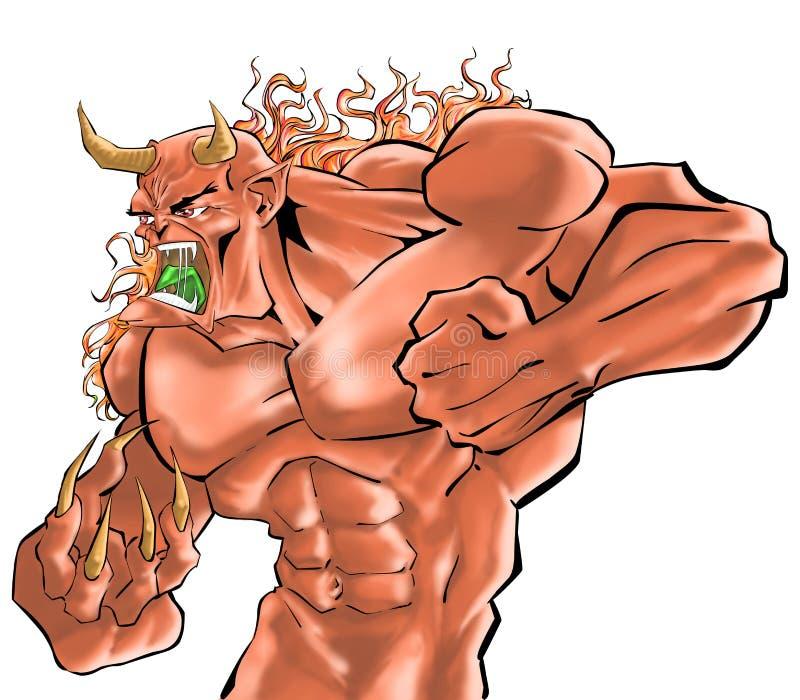 Un combatiente del demonio ilustración del vector