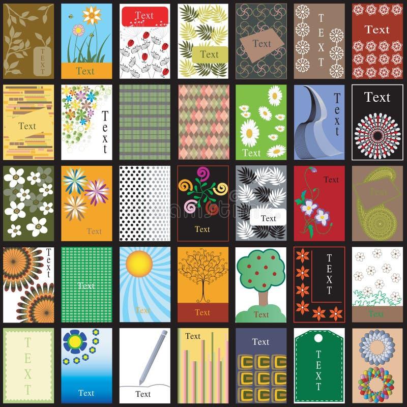un commercio di 35 verticali illustrazione vettoriale