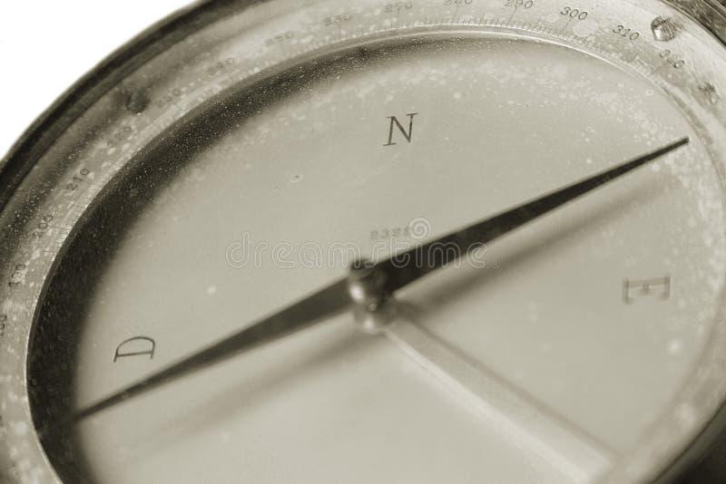 Un compas de cru utilisé pour la navigation photographie stock libre de droits