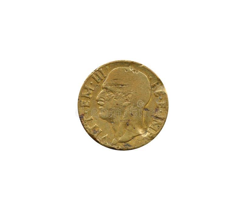 Un complemento di una moneta da 10 centesimi fotografie stock