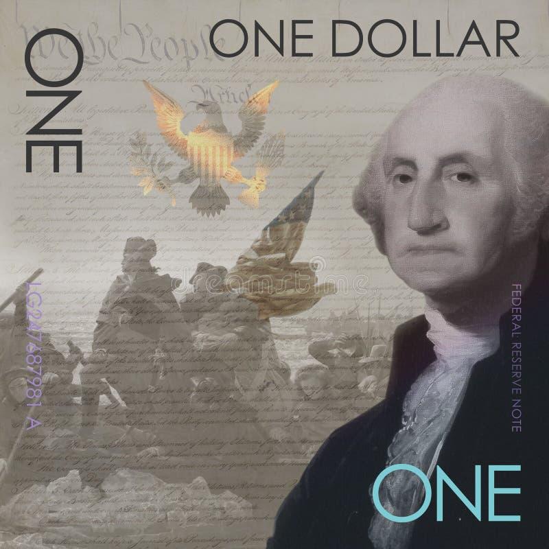 Un concept George Washington de billet d'un dollar image libre de droits