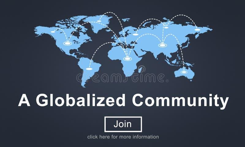Un concept social généralisé de société de mise en réseau de la Communauté illustration de vecteur