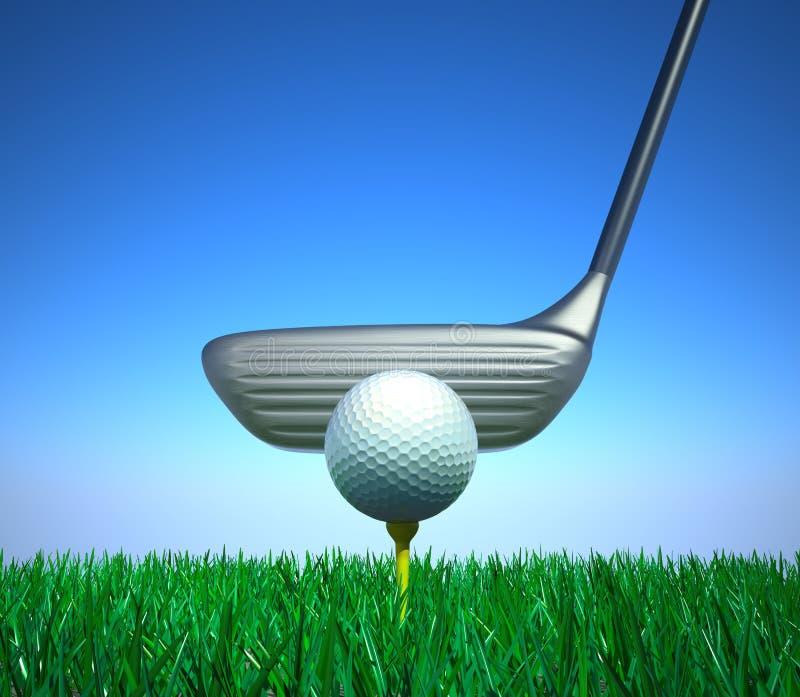 Un concetto del club di golf illustrazione di stock