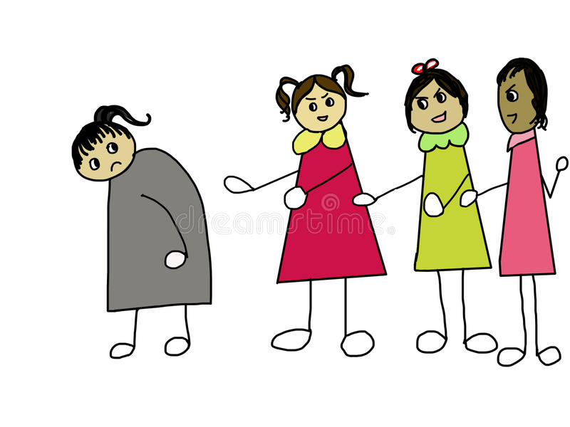 Un concetto di oppressione royalty illustrazione gratis
