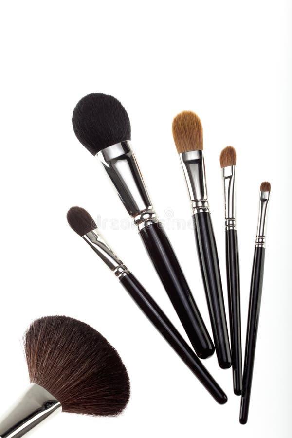Un conjunto de 6 cepillos del maquillaje imágenes de archivo libres de regalías