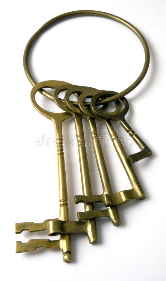 Un sistema de llaves. imagen de archivo libre de regalías