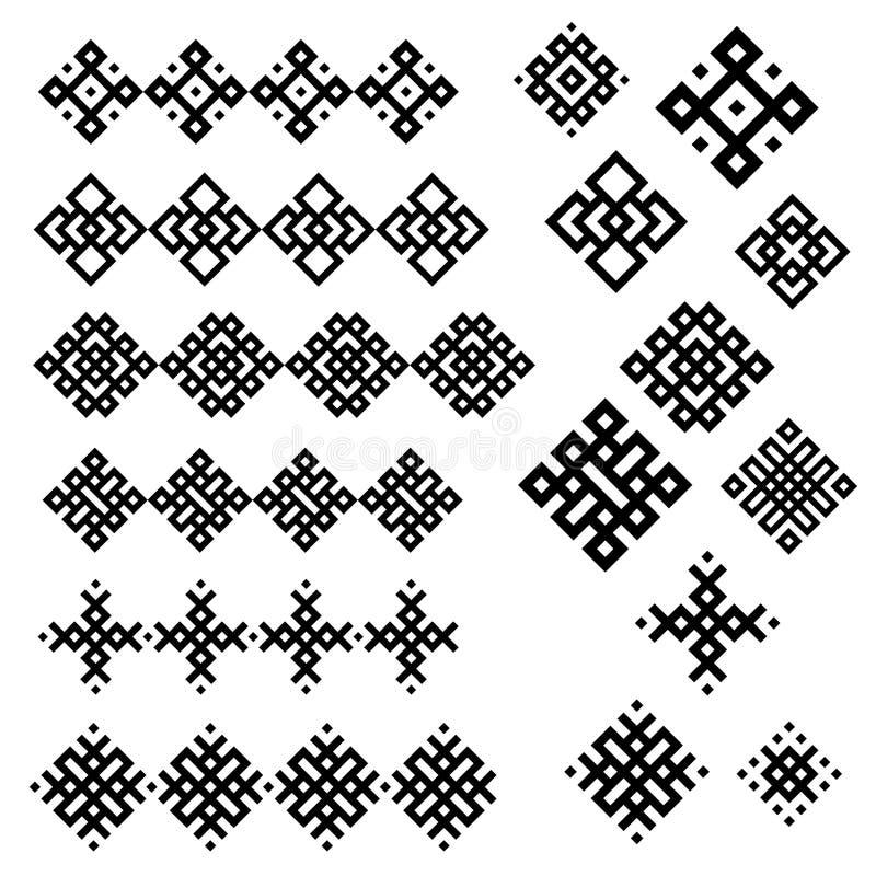 Un conjunto de diseños geométricos blancos y negros. libre illustration