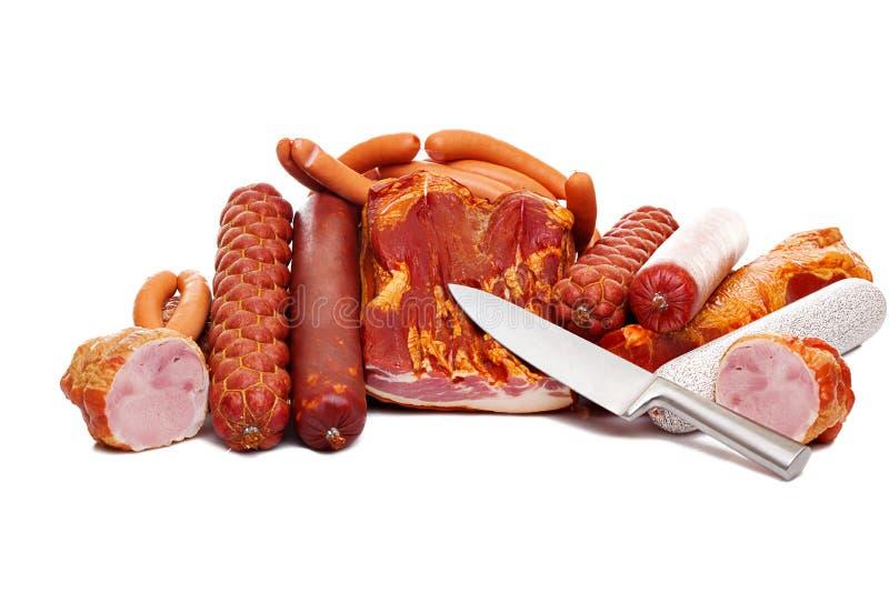 Un conjunto de tienda de platos preparados de la carne fotografía de archivo