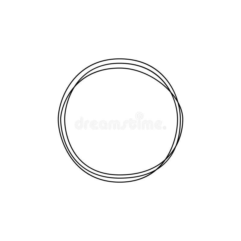 Un continuo cerchio del disegno a tratteggio Arte di minimalismo Illustrazione di vettore illustrazione vettoriale
