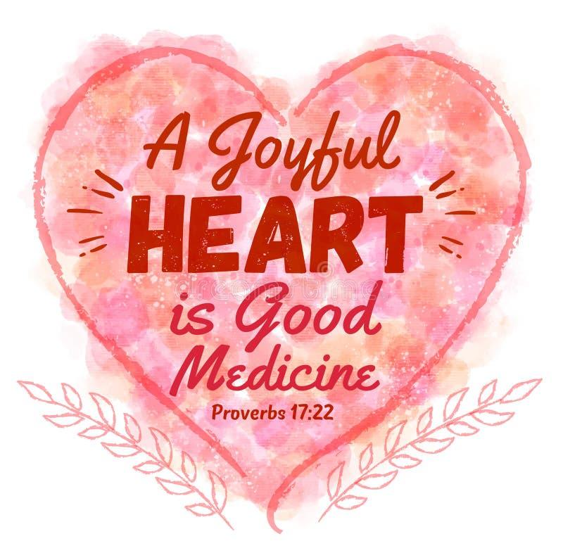 Un corazón alegre es buena medicina ilustración del vector