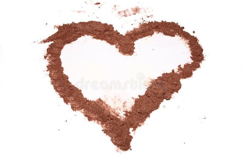 Un corazón del cacao fotos de archivo libres de regalías