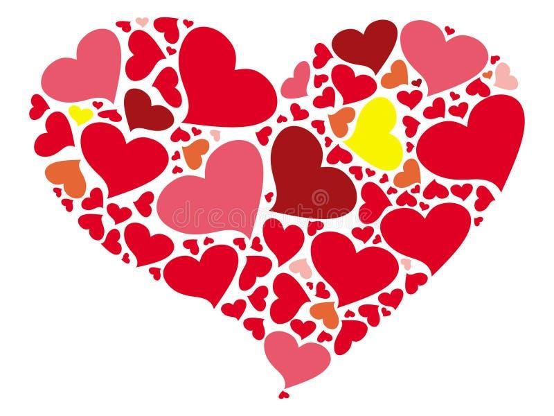 Un corazón estilizado pintado por los pequeños corazones libre illustration