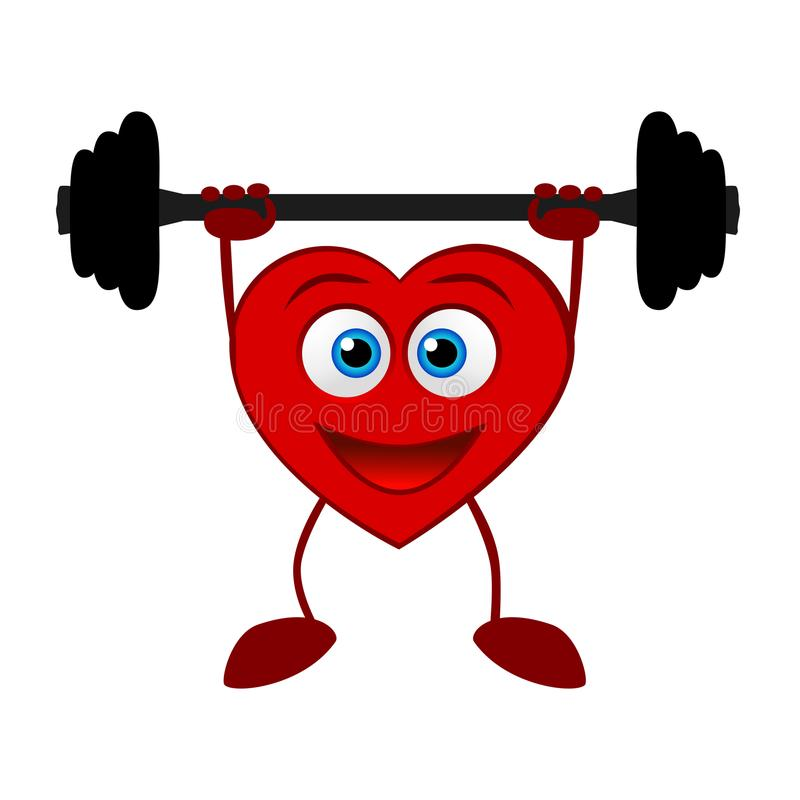 Un corazón Forma de vida sana stock de ilustración