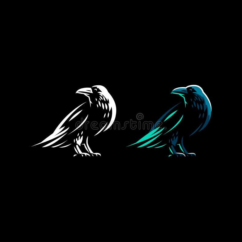 Un corbeau se tient illustration libre de droits
